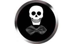 Stickers / autocollants tête mort Crâne d'amour 3