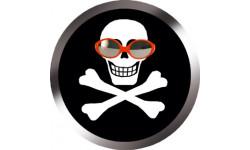 Stickers / autocollants tête mort pirate d'amour 3