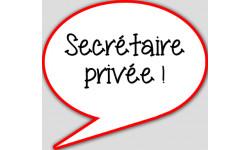 stickers / autocollant Secrétaire privée