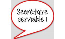 stickers / autocollant Secretaire serviable