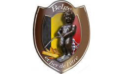 Stickers  / Autocollant  Belge et fier de l'être