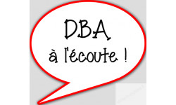 stickers / autocollant DBA à l'écoute
