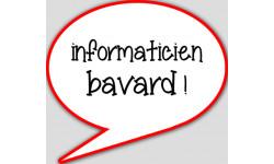 stickers / autocollant informaticien bavard