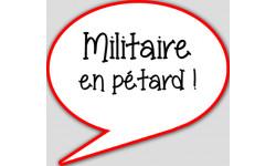stickers / autocollant militaire en pétard