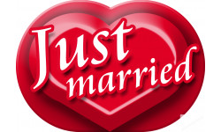 stickers / autocollant Just married
