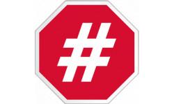 stickers / autocollant hashtag stop