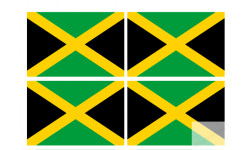 Stickers / autocollants drapeau Jamaïque 2