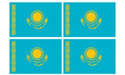 Stickers / autocollants drapeau Kazakhstan 2