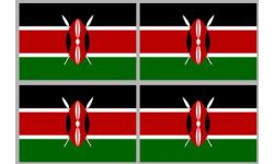 Stickers / autocollants drapeau Kenya 2