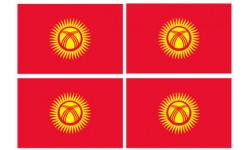 Stickers / autocollants drapeau Kirghizistan 2