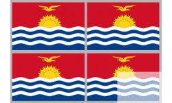 Stickers / autocollants drapeau Kiribati 2