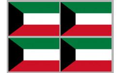 Stickers / autocollants drapeau Koweït 2