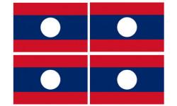 Stickers / autocollants drapeau Laos 2