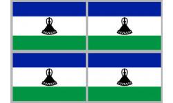 Stickers / autocollants drapeau Lesotho 2