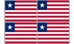 Stickers / autocollants drapeau Libéria 2