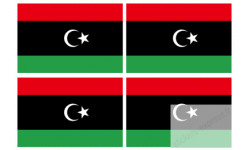Stickers / autocollants drapeau Libye 2