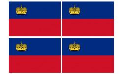 Stickers / autocollants drapeau Liechtenstein 2