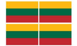 Stickers / autocollants drapeau Lituanie 2