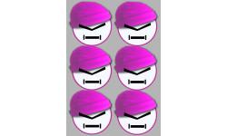 Stickers / autocollants bonnet rose