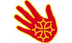 Stickers / autocollant main Occitane