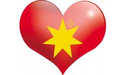 Stickers / autocollant coeur Pays d'Oc