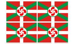 Stickers / autocollants drapeau basque