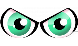 Paire d'yeux verts