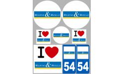 stickers / autocollant département de la Meurthe et Moselle