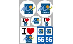 stickers / autocollant département du Morbihan
