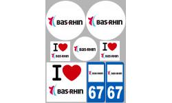 stickers / autocollant département du Bas-Rhin