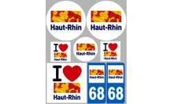 stickers / autocollant département du Haut-Rhin