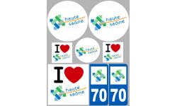 stickers / autocollant département de la Haute Saône