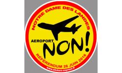 non au référendum pour l'aéroport de Notre Dame des Landes