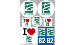 stickers / autocollant département du Tarn et Garonne