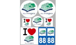 stickers / autocollant département des Vosges