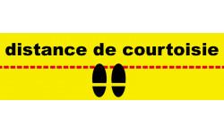 """Sticker / Autocollant pour sol """"distance de courtoisie"""""""