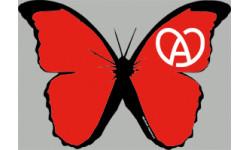 """stickers autocollants """"effet papillon Alsace rouge"""""""