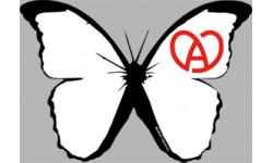 """stickers autocollants """"effet papillon Alsace blanc"""""""