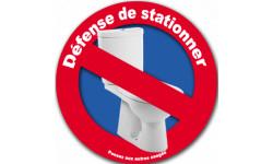 Interdiction de stationner au WC