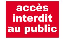 Stickers / autocollants Accès interdit au public