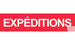 autocollant expeditions rouge
