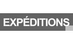 autocollant expeditions gris