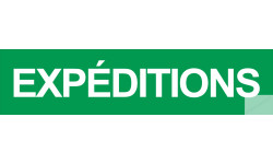 autocollant expeditions vert