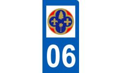 Autocollants : immatriculation motard departement des Alpes Maritimes