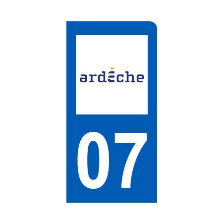immatriculation motard departement de L'Ardeche