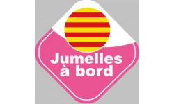 Stickers autocollant jumelles catalanes
