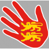 Stickers / autocollant main Normande