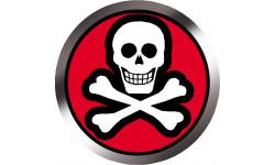 Stickers / autocollants tête mort négatif 3