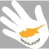 drapeau Chypre main