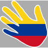 drapeau Colombie main